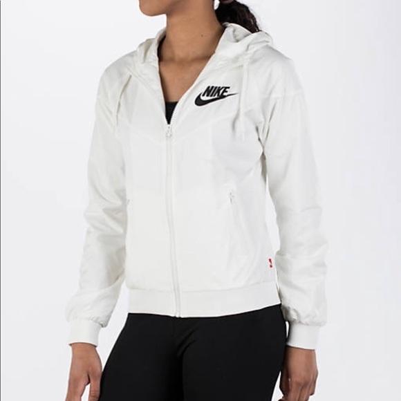 499df1dd2970e Nike Jackets & Coats   Allwhite Windbreaker   Poshmark